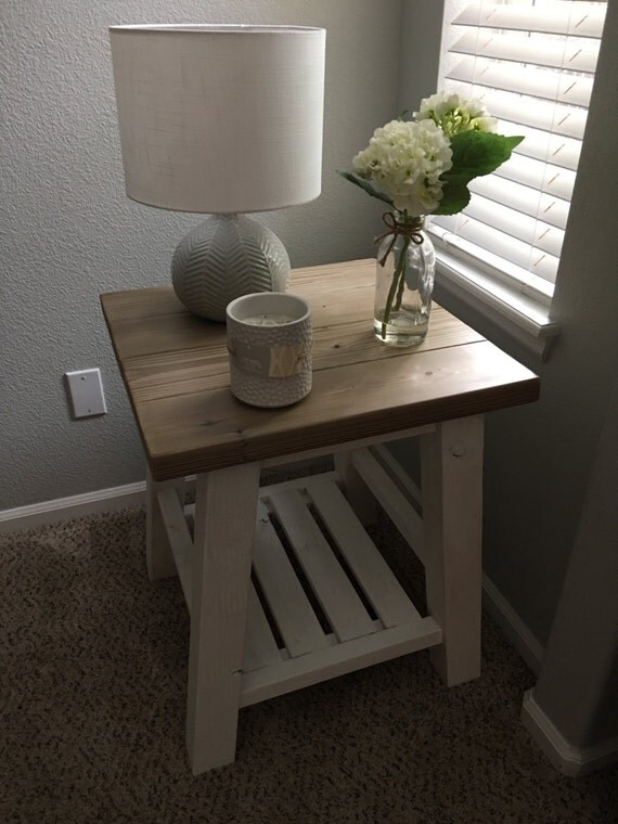 Rustic Living Room End Table