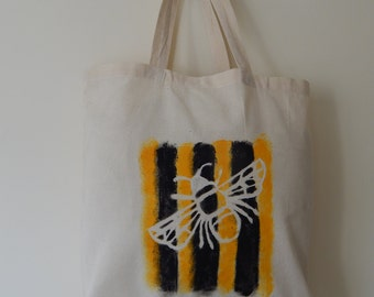 Hand painted Bee tote bag