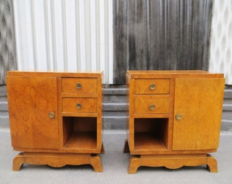Pair of french Art Déco nightstands