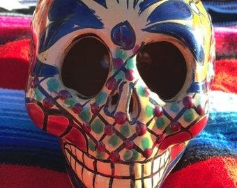 Talavera Day of the Dead Skull