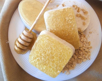 Honey, Milk, and Oatmeal Soap/ Handmade Soap/Homemade Soap/Natural Soap/Exfoliating  Soap/Moisturizing Soap/Bar Soap/Spa Soap/Honey Soap