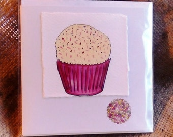 Pink Cup Cake Card