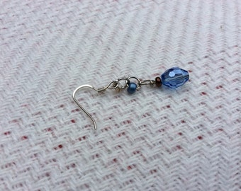Blue crystal dangle earrings