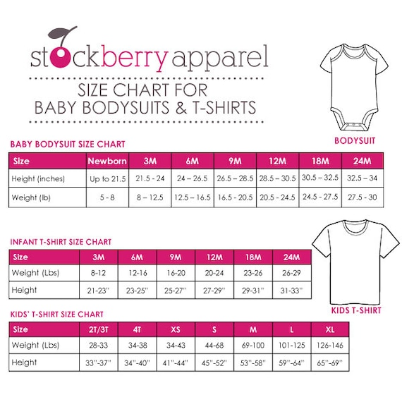 Haute Baby clothing size chart. Please note that Haute Baby runs a little small in infant sizes (0/3mm mainly). Buy a size up for your infant if not sure. Gowns best fit is months old babies. All other styles in a size 0/3m will easily fit a newborn baby.