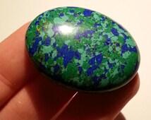 Azurite Malachite Cabochon Huge Earth Stone Blue Green