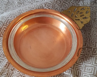Copper and Glass Dish