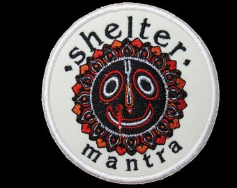 Vintage SHELTER Mantra Sew On Embroidered Hardcore Punk Patch