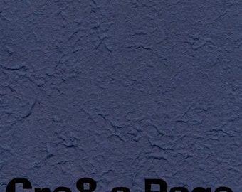 Cre8-a-Page E-2 Handmade Deep Blue Embossed Paper 12x12 Scrapbooking, 10 Sheets