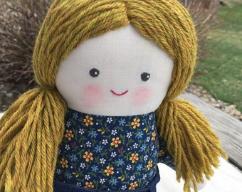 """Amie is a 17"""" doll, handmade with all natural materials. Waldorf inspired dolls for creative play."""