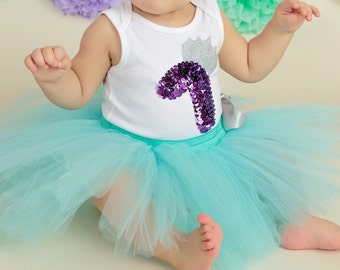 First birthday set of tutu and onsie for your little princesses!