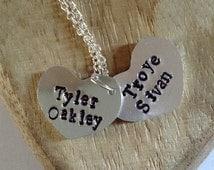 Tyler and Troye Necklace; Tyler Oakley; Troye Sivan; Troyler; Fan Metal; Fandom; Hand Stamped; Youtube; Youtubers.