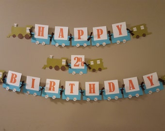 Train Banner, Train Birthday Banner, Choo Choo Banner, Choo Choo Birthday Banner, Train Birthday