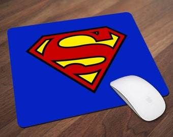 Superman Mouse Pad, Superhero Mouse Pad, Office Gift, Co-Worker Gift, Boss Gift, Student Gift