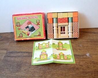 Vintage Wood Building Blocks Made in Japan