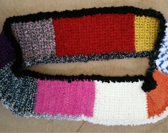 Multi color infinity scarf