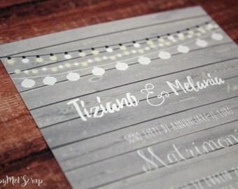 """Wedding card """"Elisabeth"""""""