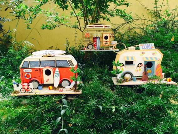 Articles similaires nichoir en bois caravane camper for Articles decoration maison