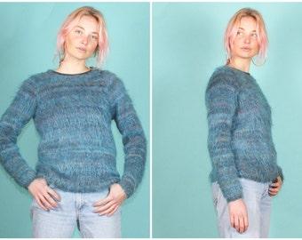 Vintage blue mohair jumper