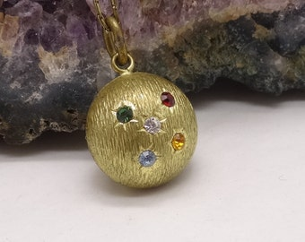 Vintage Orb Paste studded pendant & Chain