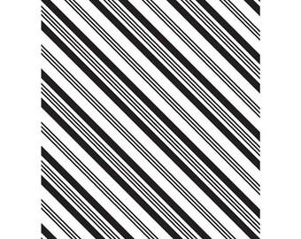 Stripe Embossing Folder - Diagonal Stripe Embossing folder - Card Embossing - Diagonal Embossing Folder - Diagonal Stripe Emboss Folder