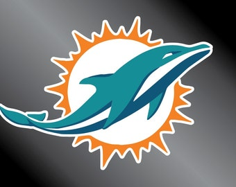Miami Dolphins Vinyl Decal Sticker