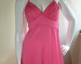 1970s Pink Maxi Halter Dress By Polly Peck 8 Vintage
