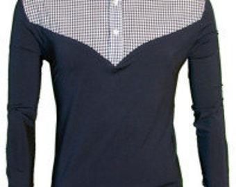 Yale Navy Gingham / Long Sleeve Shirt