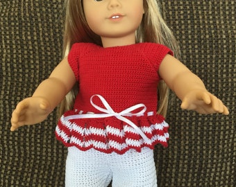 Crocheted American Girl Doll Shorts Outfit