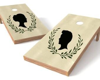 custom silhouette cornhole board decals custom decals custom cornhole boards wedding cornhole boards - Custom Corn Hole Boards