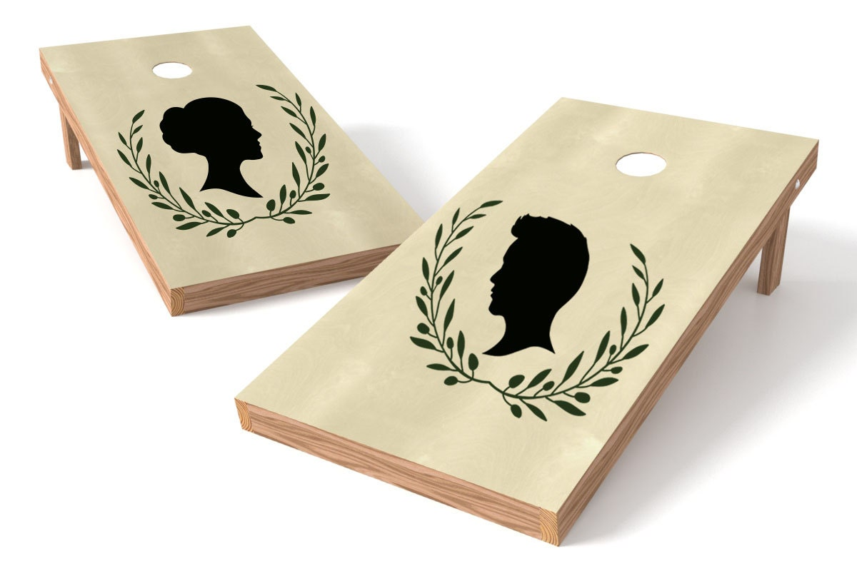 Custom Silhouette Cornhole Board Decals Custom Decals