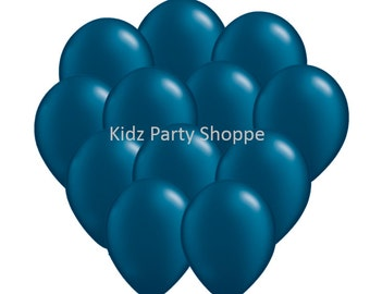 "12ct Pearl MIDNIGHT Navy BLUE BALLOONS 11"" latex birthday party shower supplies decorations centerpiece photo prop"