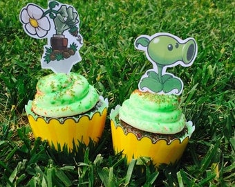 Plants vs Zombies Cupcake Wrappers