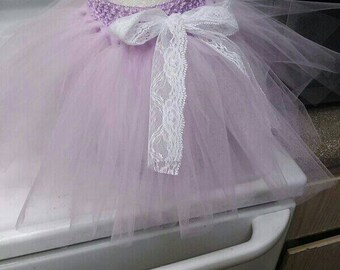 Lavender and lace tutu skirt