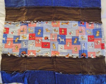 Large Rag Baby Blanket