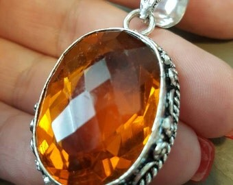 Orange Quartz pendant!- REDUCED!
