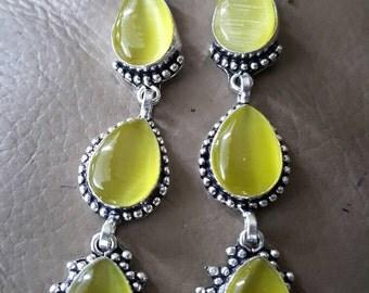 Yellow Cat's Eye Earrings!
