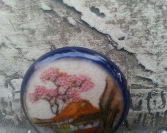 Satsuma Cherry tree button