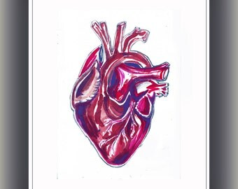 Heart -  Valentines Day - Print - Ink Drawings