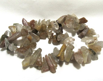 1 Strand Natural Gemstone Quartz Dagger Beads (B58i2)
