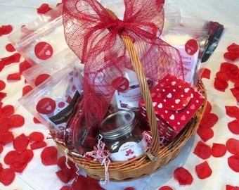 All natural, Flavored Cotton Candy Valentine's Gift Basket