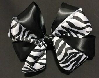 Zebra Hair Bow, Hair bow