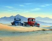 """Tim Wistrom Mini Print """"Truck's Stop"""""""