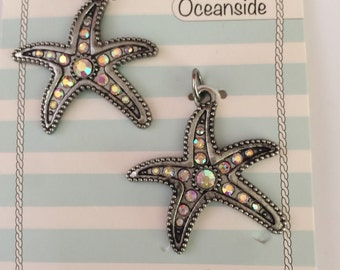 Starfish charms 2 pieces