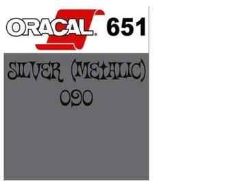 Oracal 651 Vinyl Silver Metallic (090) Adhesive Vinyl - Craft Vinyl - Outdoor Vinyl - Vinyl Sheets - Oracle 651