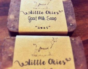 """Goat Milk Soap, handmade soap, """"Rest"""""""