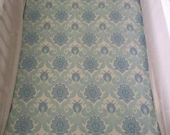 Vintage Blue Crib Sheet