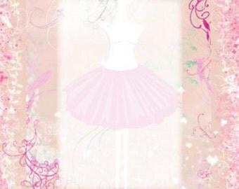Personalized Ballerina Name Poem background