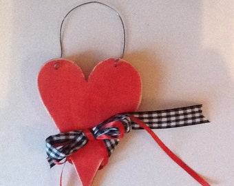 Distressed  wooden heart