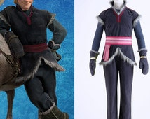 High Quality Frozen Prince Kristoff Cosplay Costume -Whole 5 Sets Custom-made in sizes