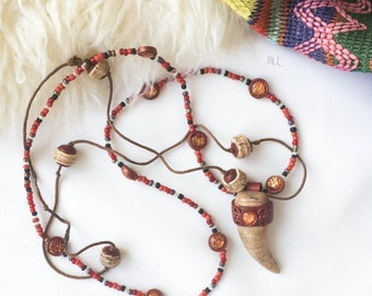 "Bohemian ethnic necklace ""Spirit of love"""